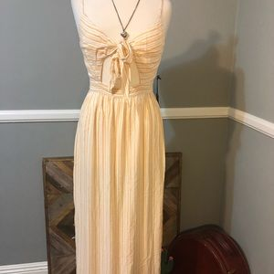 Forever 21 Contemporary long yellow striped Dress